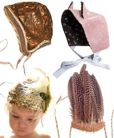 Oh. My. Goodness. Kids bonnets and feathered headbands
