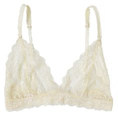 Lonely Ivory Leavers Lace Bralet (62 BRL) ❤ liked on Polyvore featuring intimates, bras, underwear, lingerie, tops, bralette bra, lace bralette lingerie, lace bra, ruffle lingerie and lace triangle bra