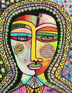 Talavera Virgin Of Guadalupe Miracles Fine Art Print - Sandra Silberzweig