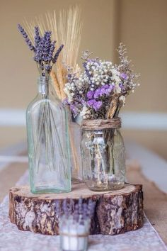 dried lavender centerpiece