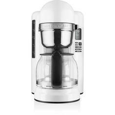 KitchenAid 12 Cup Coffee Maker with One-Touch Brewing #KCM1204 (1 150 SEK) ❤ liked on Polyvore featuring home, kitchen & dining, small appliances, white, coffee brewer, kitchen aid small appliances, kitchenaid small appliances, kitchenaid and coffee machines