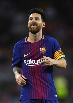 Lionel Messi of Barcelona looks on during the UEFA Champions League Group D match between FC Barcelona and Juventus at Camp Nou on September 12, 2017 in Barcelona.