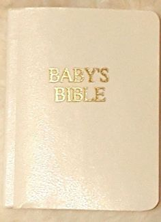 """LEE MIDDLETON WHITE LITTLE BABY'S BIBLE YOUR LEE MIDDLETON DOLL 2""""x2.6"""" #LeeMiddleton #Accessories"""