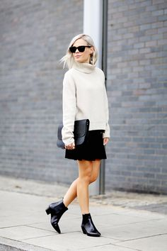 Proenza Schouler knit and Saint Laurent boots in London www.wethepeoplestyle.com