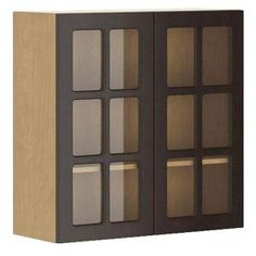 Eurostyle, 30x30x12.5 in. Bern Wall Cabinet in Maple Melamine and Glass Door in Dark Brown, WG3030.M.BERNE at The Home Depot - Mobile