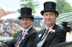 Peter Phillips and his stepfather Tim Laurence were also part of the royal procession