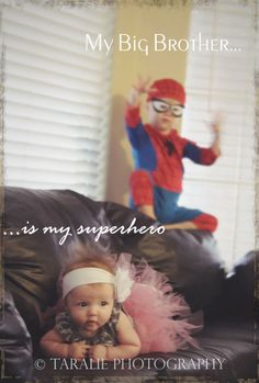 phoenix photographer, superhero, tutu, siblings, brother, sister, spider man