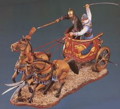 КОЛЕСНИЦА Chariot Racing, Persian Warrior, Circus Maximus, Old Warrior, Origami Artist, Achaemenid, Ancient Persia, Modern Sculpture, Toy Soldiers