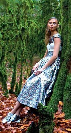 BRA OVER THE DRESS....WHYYYYYYYYYYYYYYY. ETC. Anna Selezneva in Dior for Vogue Russia Feb 2014