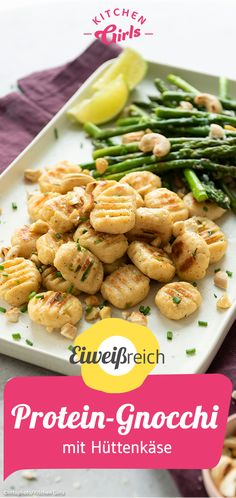 Protein gnocchi with cottage cheese - Rezepte - Healthy Recipes Easy Healthy Recipes For Diabetics, Healthy Gluten Free Recipes, Healthy Meals For Two, Healthy Breakfast Recipes, Healthy Snacks, Protein Snacks, Ricotta, Cottage Cheese, Gray Hair