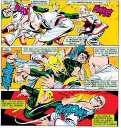 Page from Marvel Premiere # Gil Kane & Roy Thomas Comic Book Characters, Marvel Characters, Comic Books, Iron Fist Marvel, Misty Knight, Heroes For Hire, Power Man, Martial Artists, Classic Comics