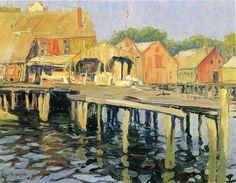 The Pier, Gloucester (Jane Peterson - circa 1915)
