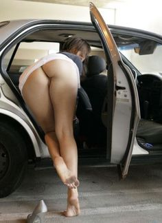 entering the car