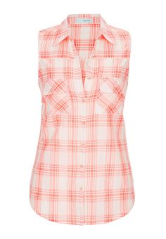 sleeveless button down shirt in plaid - maurices.com