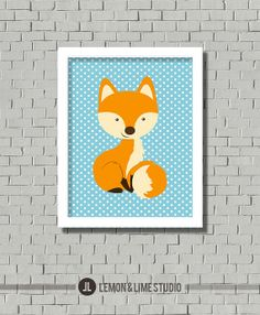 Fox Nursery Decor  Nursery Art Kids Wall Art by lemonANDlimeStudio, $18.00