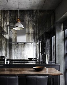 Sharyn Cairns » Interiors - what a dark and mooody kitchen but how delicious is it?!