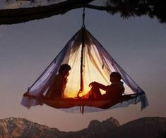 Cowards need not apply to spend a night sleeping in the hanging tent platform. This suspended domicile makes a great resting spot for the weary and experienced mountain climber that has no qualms in spending the night hanging from a vertical mountainside.