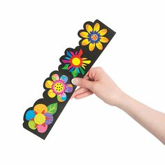 Poppin' Pattern Spring Flower Bulletin Board Borders - Discontinued Flower Bulletin Boards, Bulletin Board Borders, Colorful Flowers, Spring Flowers, Picture Borders, Creative Teaching Press, Borders For Paper, Oriental Trading, Paper Crafts