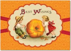 Plenty o' Pumpkin - Happy Thanksgiving Greeting Cards from Treat.com #vintage