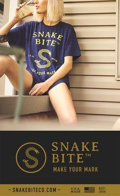 Snake Bite Brand Tee Shirt - American Apparel - 100% Made in the USA | Snake Bite Co.