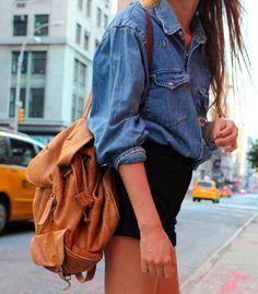 big bag & high shorts