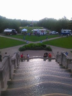 Right before the crowds started coming in for the 4th of July fireworks. Be sure to attend our annual celebration every 4th of July!