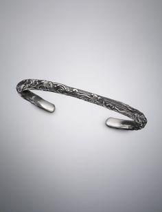 David Yurman Waves Cuff bracelet for men: silver