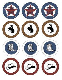 FREE Printable! Rustic Western Cowboy Circle Tags | marigoldmom.com