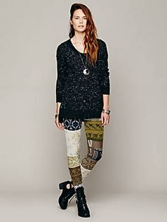 Free People Patchwork Sweater Legging, $98.00