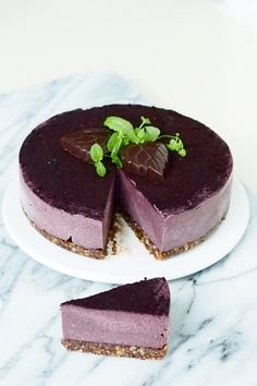 Raw bilberry cake (nut and coconut free) / Superlemon