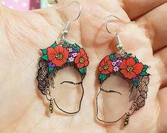 Plastic Earrings, Funky Earrings, Diy Earrings, Polymer Clay Earrings, Earrings Handmade, Handmade Jewelry, Diy Shrink Plastic Jewelry, Diamond Earrings, Cute Jewelry