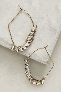 Almond Geo Hoops #anthropologie