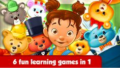 Find the best apps for kids. Thousands of apps tested by moms and educators. We curate the best of the best apps and kids educational resources. Fun Learning Games, Best Educational Apps, Bears Game, Mini Games, Game App, Teddy Bears, Free Apps, Ipad