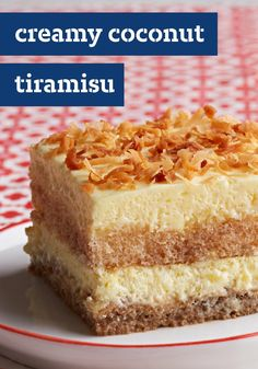 Creamy Coconut Tiramisu – What do you get when you cross creamy tiramisu recipe with toasted coconut recipe? A classic Italian dessert with a tropical twist.
