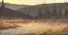 The Dream - Canvas Print.  Fly fishing art by Clayton Stewart - oil painting