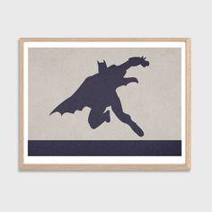 Batman Poster : Modern DC Comics Superhero Illustration Retro Art Wall Decor Print A4 11 x 8