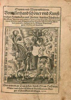«Stamm und Wappenbüchlein...», Elias Hoffmann, Franckfort am Mayn 1592 [VD16 ZV 29674] [BSB Res/Herald. 209 x - urn:nbn:de:bvb:12-bsb00087194-8] -- Bildnr.5 (Titel)