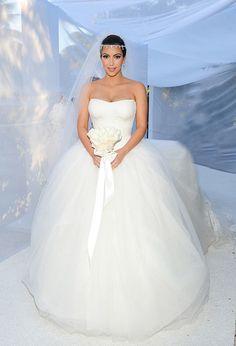 Kelly Caresse | Celebrity bruiden inspiratie : De steren en hun bruidsjurken  Kim Kardashian