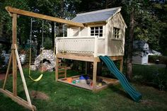 Build swing set off the side