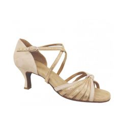 Size 6 1//2 Party Party Beige Dance Shoes SERA7013 Gold Tan 2.5 Heel
