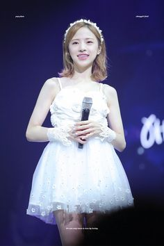 OH MY GIRL - Jine First Girl, My Girl, Short Hair Styles, Flower Girl Dresses, Wedding Dresses, Fairytale, Plum, Summer, Kpop