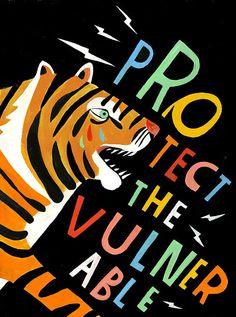 Protect the Vulnerable Art Print - Lisa Congdon