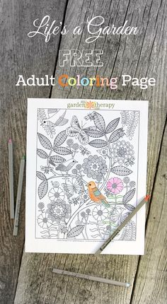 Life's a Garden is a free printable adult coloring page designed by a the talented artist, Rachel Beyer. Garden Coloring Pages, Printable Adult Coloring Pages, Flower Coloring Pages, Coloring Book Pages, Coloring Sheets, Abstract Coloring Pages, Doodle Coloring, Mandala Coloring, Zentangle