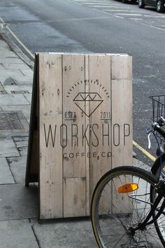 Newcomer Workshop Coffee London #design #wood #coffee