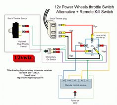 john deere gator (old style) wire diagram misc power wheels Power Wheels Steering 12v power wheels throttle switch alternative remote kill switch diagram this diagram is by 12vwiz aka sgt gear grinder from modified powerwheels