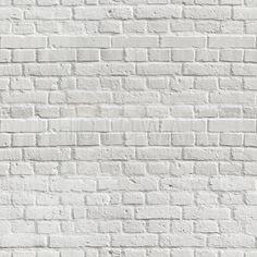 White Amsterdam Brick Wall - Fototapeter & Tapeter - Photowall
