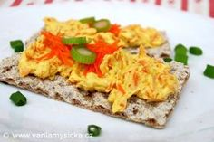 Zdravá mrkvová pomazánka plná chuti Snacks Für Party, What To Cook, Kids Meals, Baked Potato, Macaroni And Cheese, Toast, Food And Drink, Pesto, Cooking Recipes
