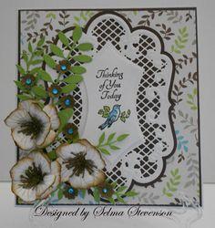 Selma's Stamping Corner: Marianne Designs, build a flower #2
