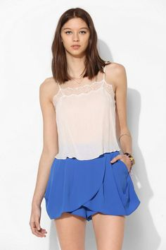 bluejuice Drapey Skirted Short #urbanoutfitters