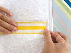 How to Make Embellished Bath Towels